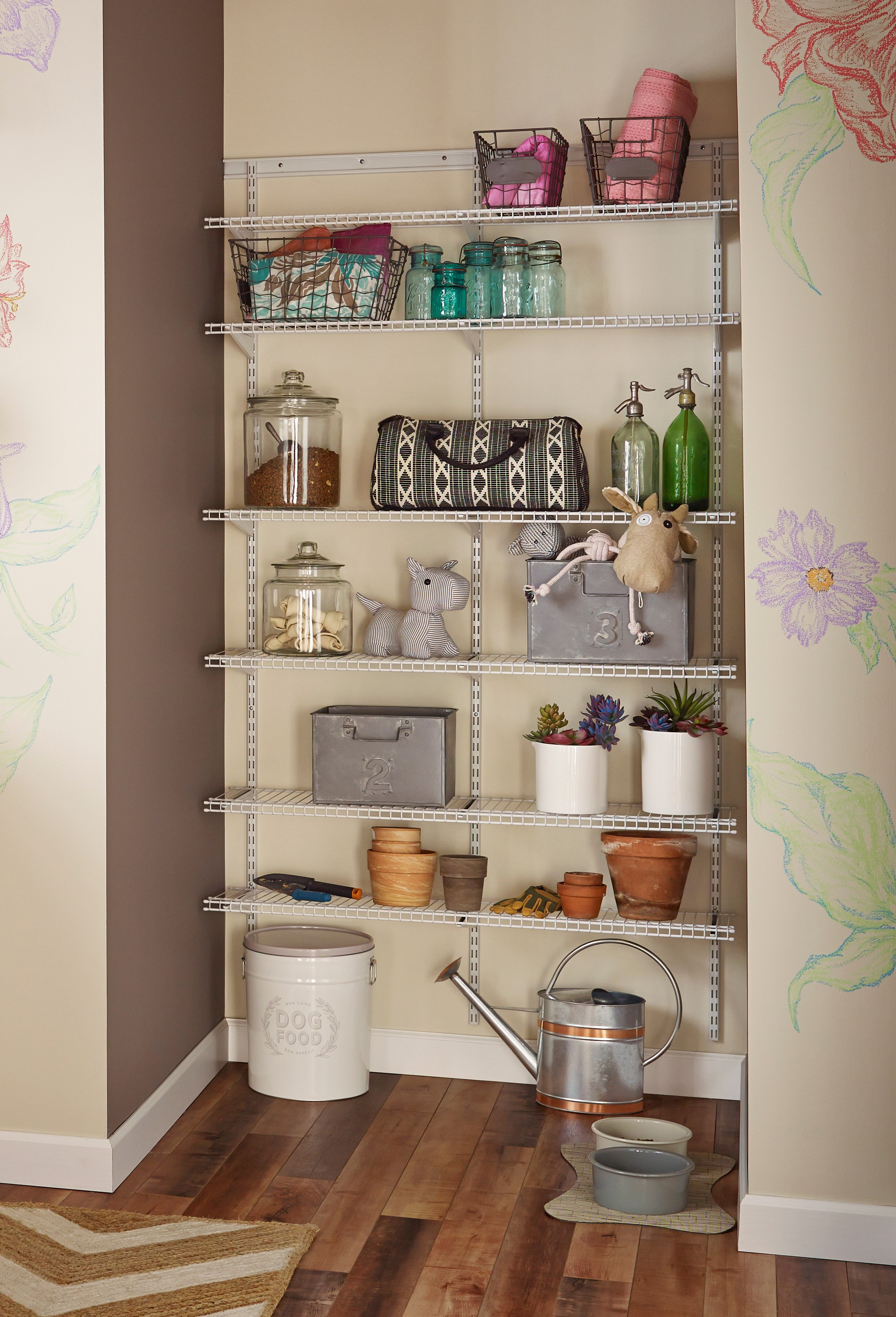 Turn An Unused Wall Into A Storage Dream With Shelftrack Wire