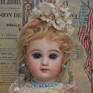 ~~~ Pretty Bisque Bebe by Emile Jumeau in Superb Antique Costume ~~~