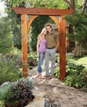 Build A Garden Arch With Images Garden Archway Garden Arches