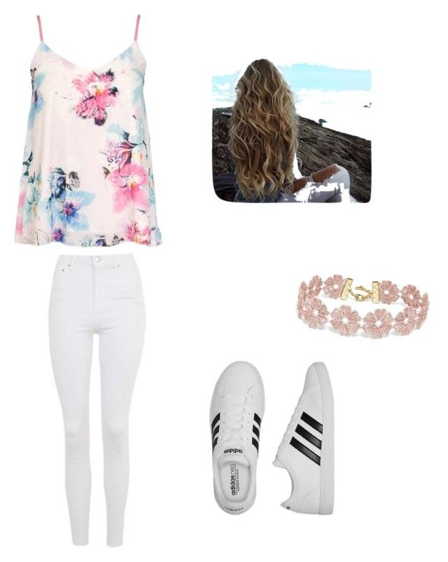 """""""From bff"""" by veronicasahowell on Polyvore featuring Topshop, Dorothy Perkins, adidas and BaubleBar"""