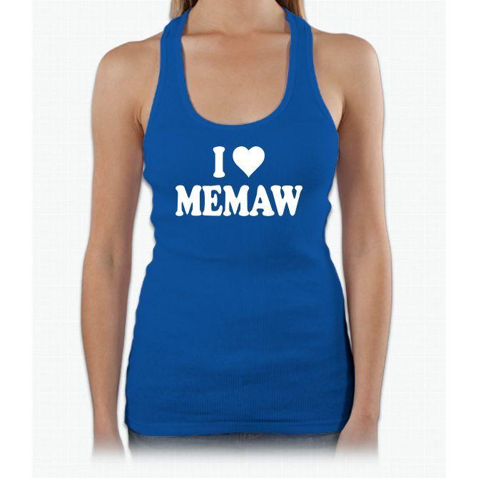 I Heart Memaw Womens Tank Top