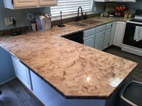 Metallic Epoxy Countertop Coating Using Leggari Products Product