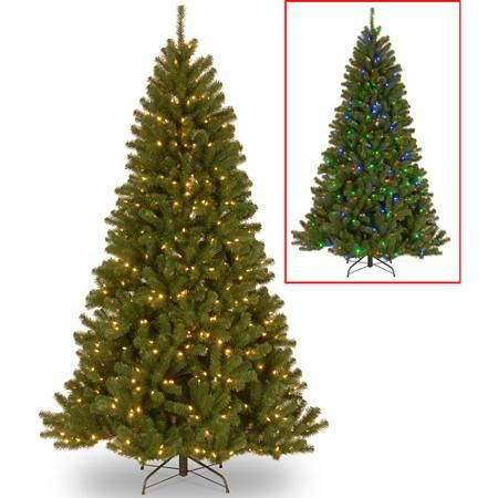 Walmart 7 5 Feet Pre Lit North Valley Spruce Tree Ymmv Pre Lit Christmas Tree Artificial Christmas Tree Fir Christmas Tree Christmas tree with dual lights white and multicolored