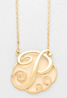 Monogram initial necklace 15 letter p pendant gold chain monogram initial necklace 15 letter p pendant gold chain aloadofball Gallery