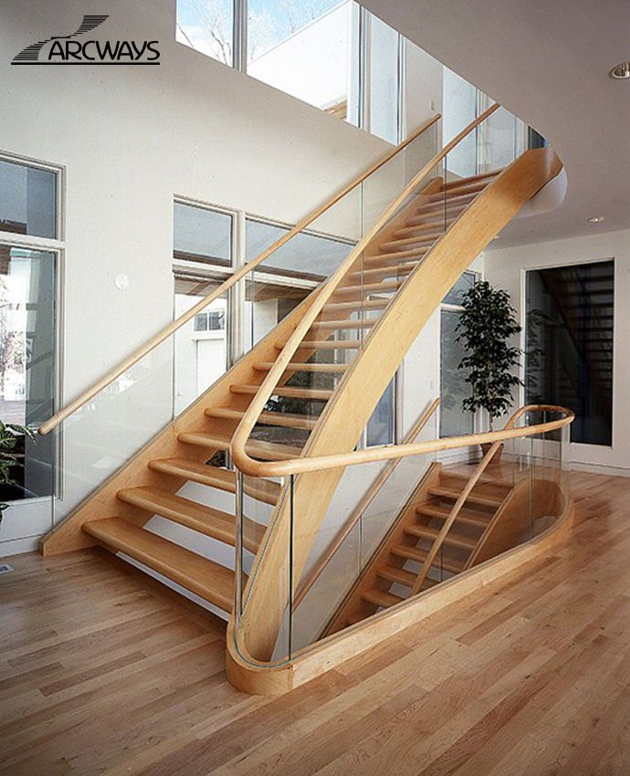 Curved Stairs | Curved Staircase | Circular Staircase | Modern Staircase |  Classical Staircase. Glass Stair RailingCurved ...