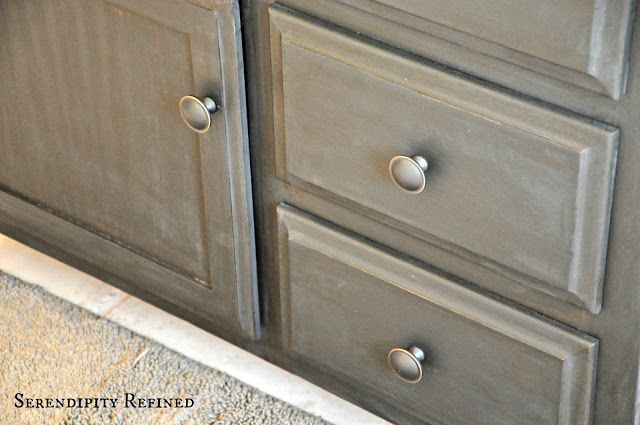 Serendipity Refined: How to Update Oak and Brass Bathroom Fixtures With  Spray Paint and Chalk