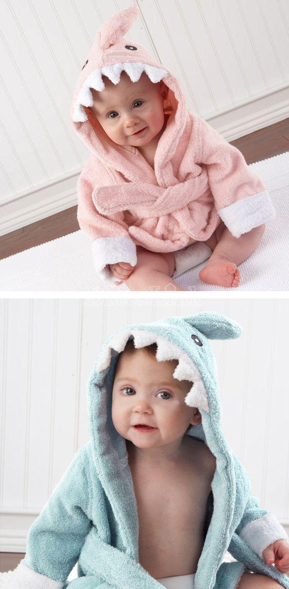 Toddler Girl Boy Animal Cartoon Pattern Bathrobe Towel 0-2 Years Old