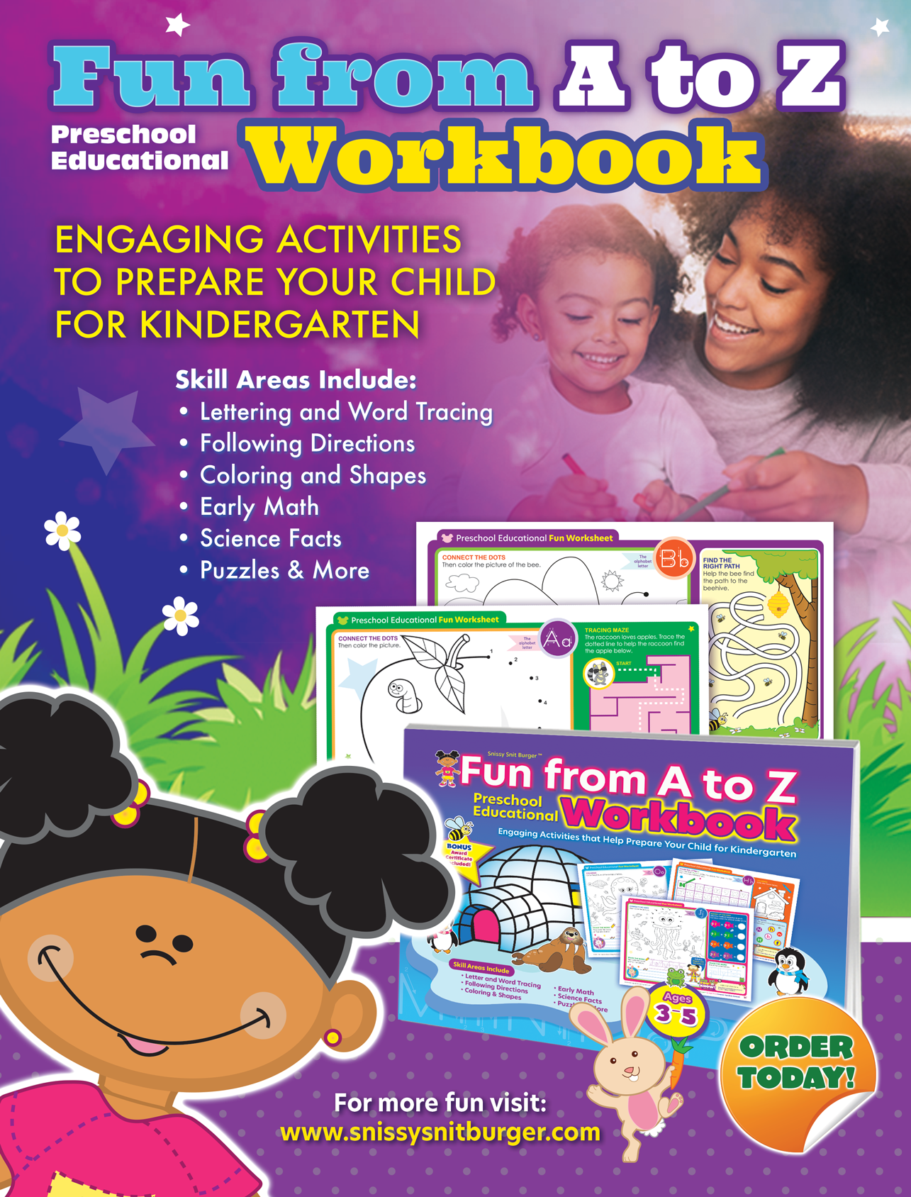 Pin On Fun From A To Z Preschool Educational Workbook