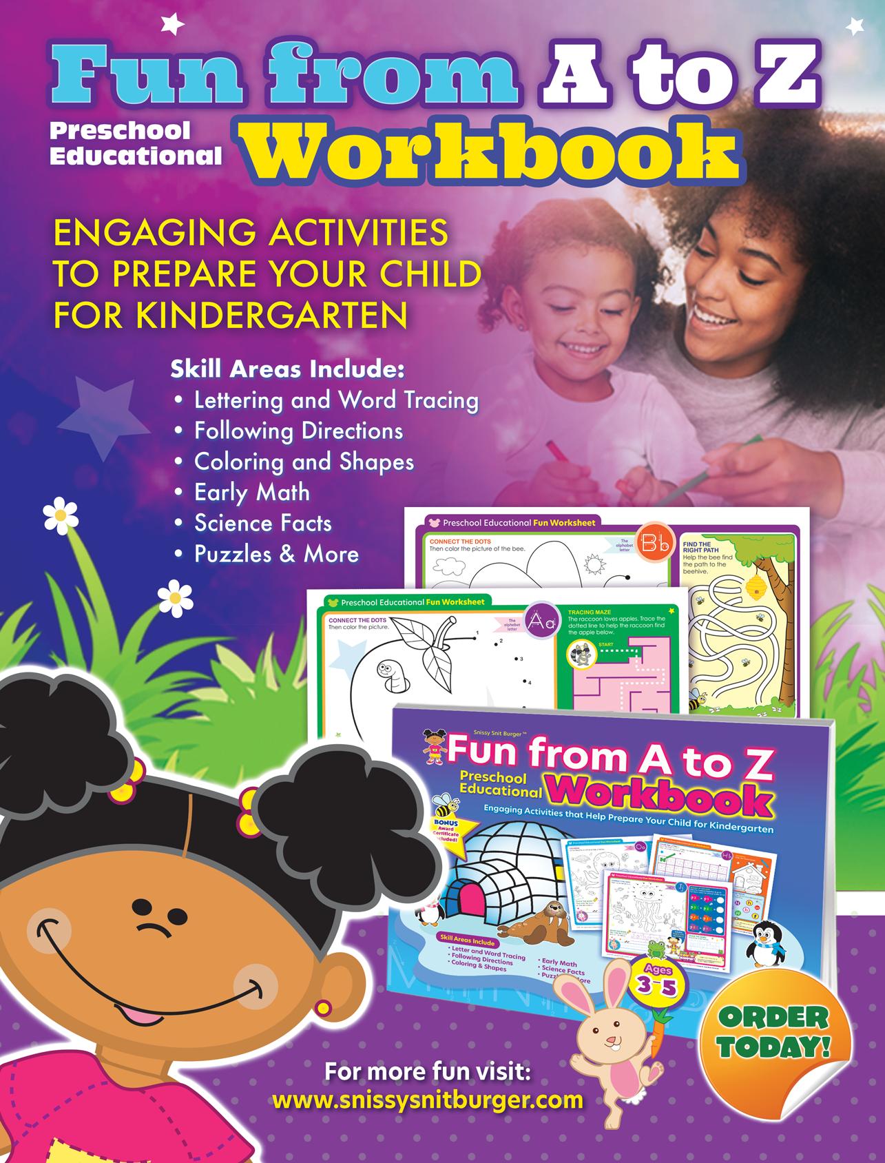 Pin On Fun From A To Z Preschool Educational Workbook