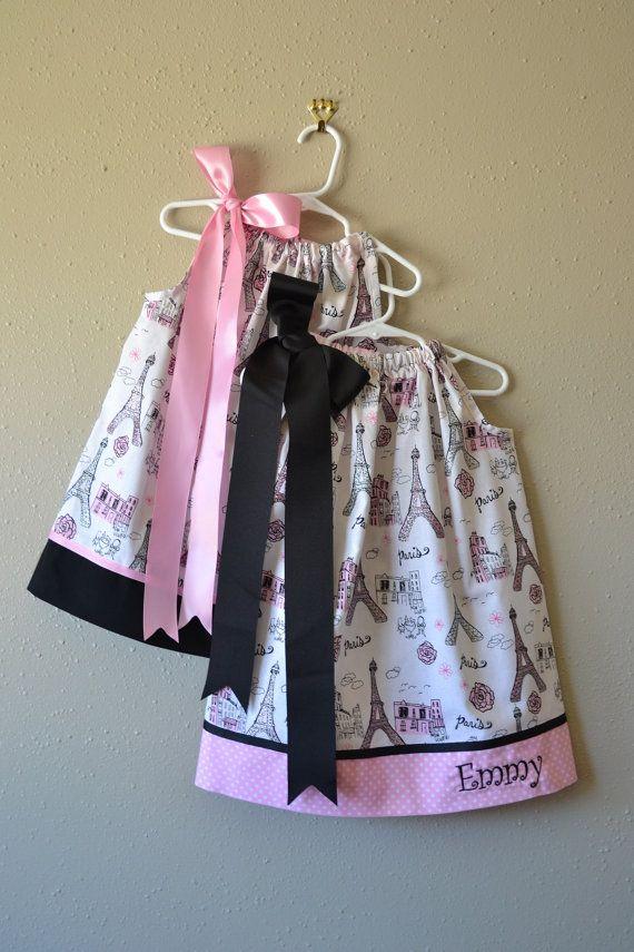 Girls Paris Pillowcase Dress by boogerbearpunkinpooh on Etsy, $25.00 ...