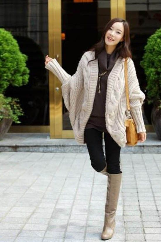 cream oversized cable knit cardigan, bat sleeves loose cable knitted  cardigan #Christmas #oversized - Cream Oversized Cable Knit Cardigan, Bat Sleeves Loose Cable