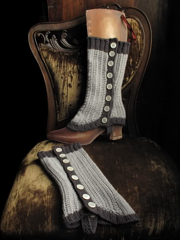 calf length spats - knitting pattern | Gotta try someday ...
