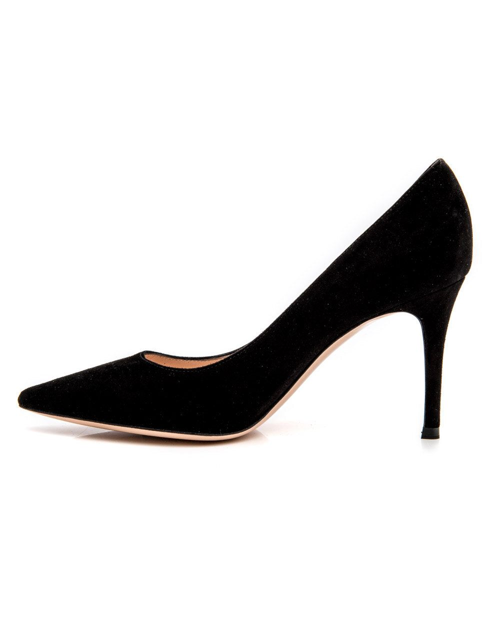 Gianvito Rossi 85 Pointed Toe Pumps In Black Suede In 2020 Stiletto Heels Pointed Toe Pumps Heels