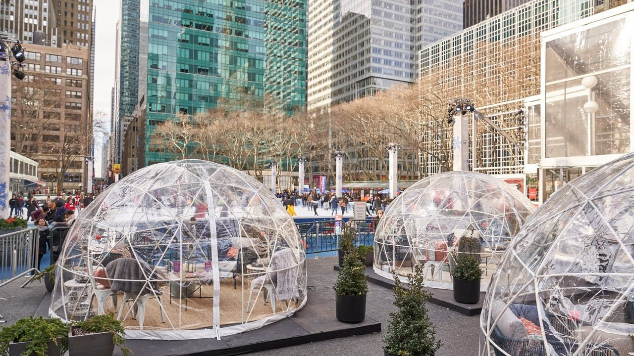 Bryant Park Cozy Igloos (With images) Bryant park nyc