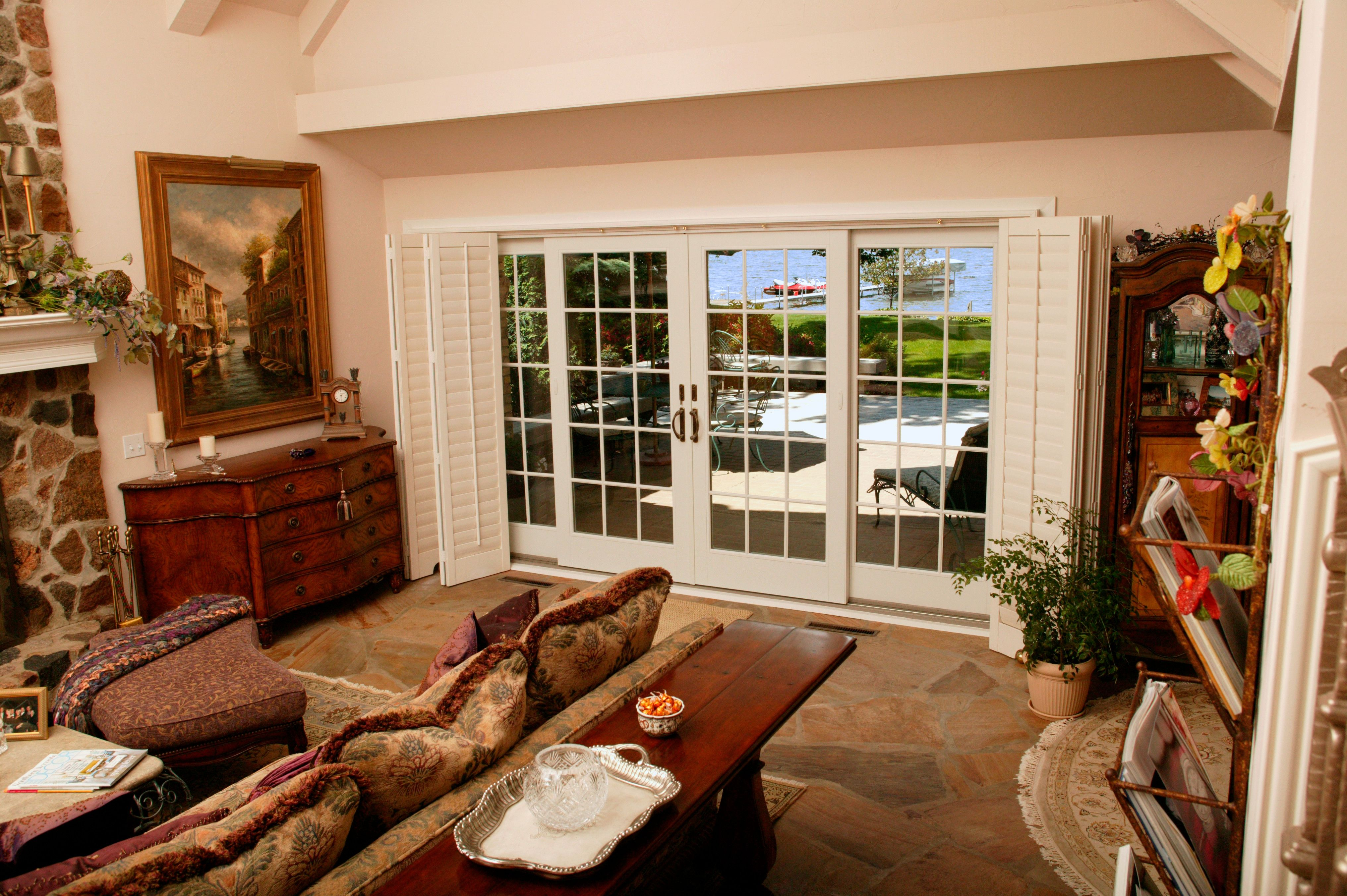 Interior View Of Frenchwood Gliding Patio Door That Opens From The