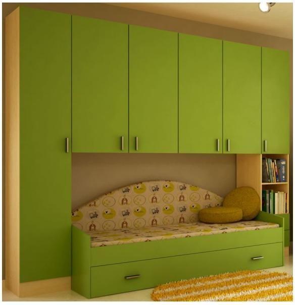 Cameretta a ponte bambino a letto singolo cassettone acero verde art cpsar2500a44604 - Dimensioni letto singolo cameretta ...