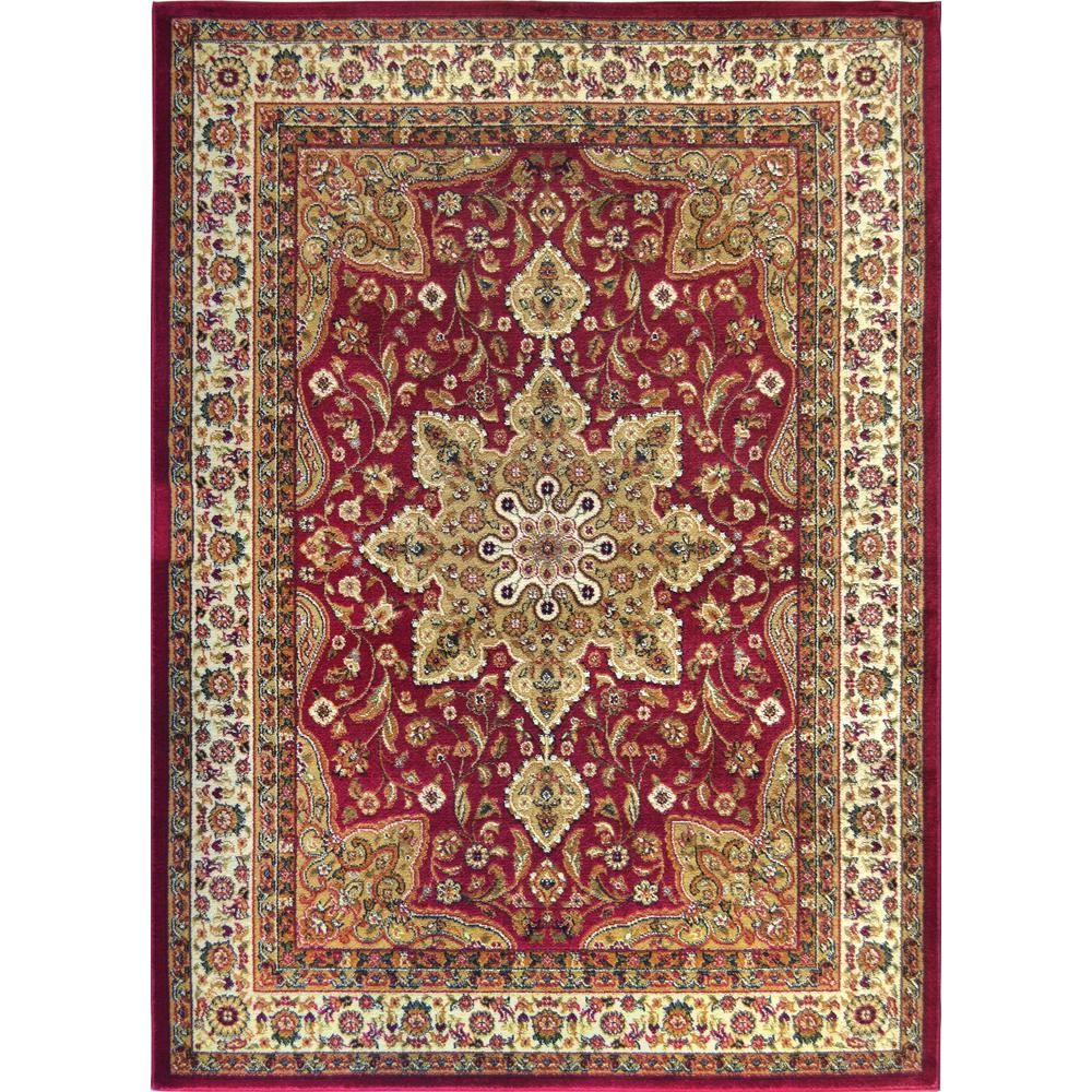 Home Dynamix Royalty Red 5 ft. x 7 ft. Indoor Area Rug2