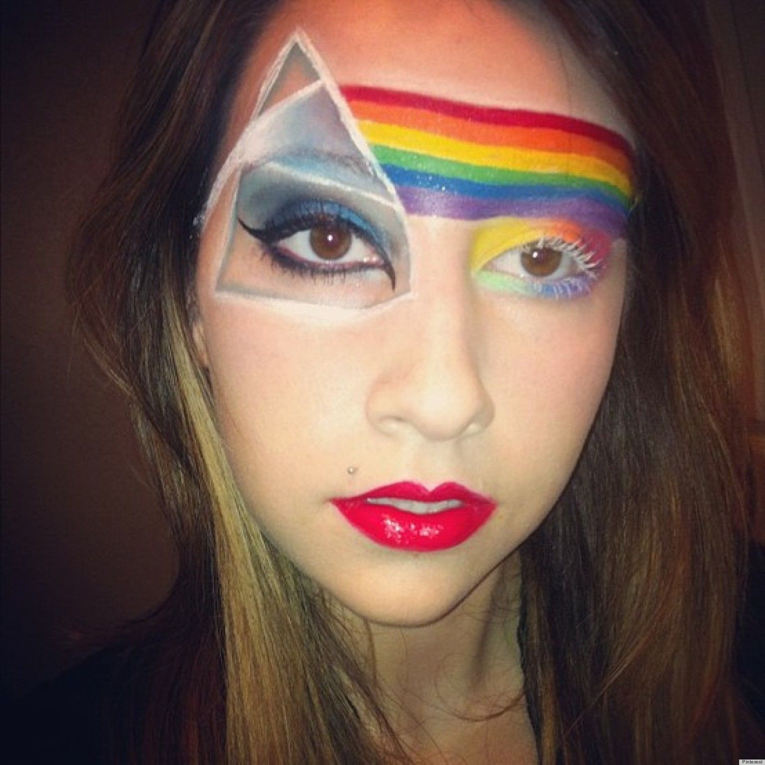 LastMinute Halloween Makeup Ideas From Pinterest (PHOTOS