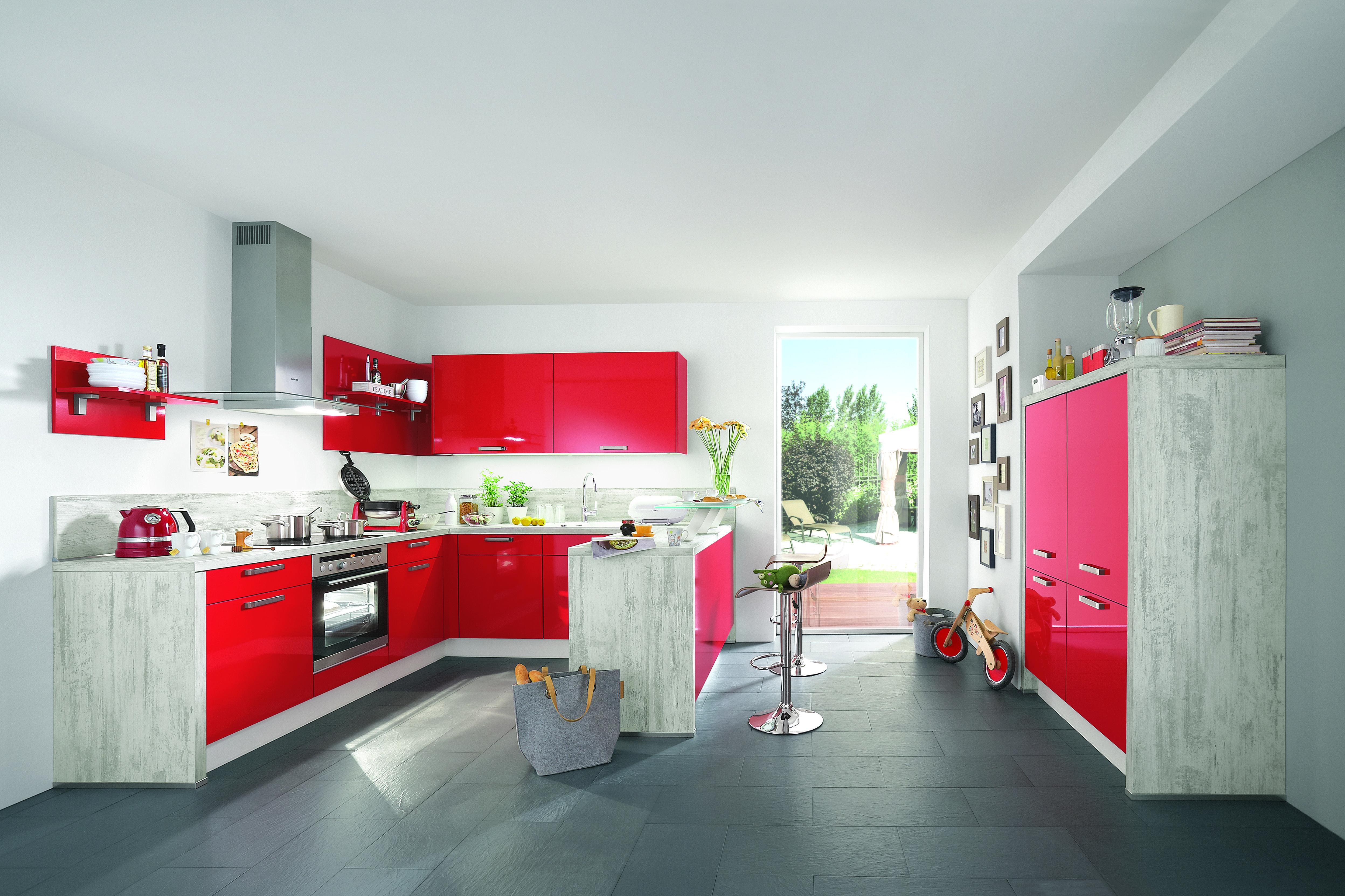 Keuken I Rood I   Keuken / interieur ideeën   Pinterest