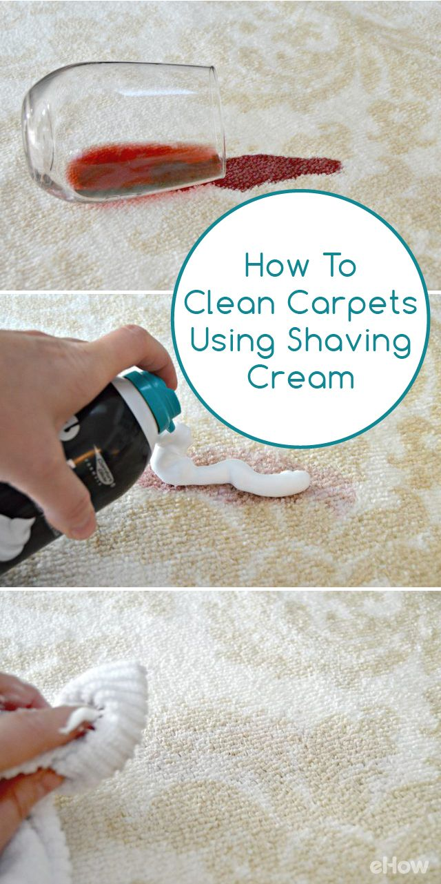 How To Clean A Carpet Stain Using Shaving Cream Cleaning