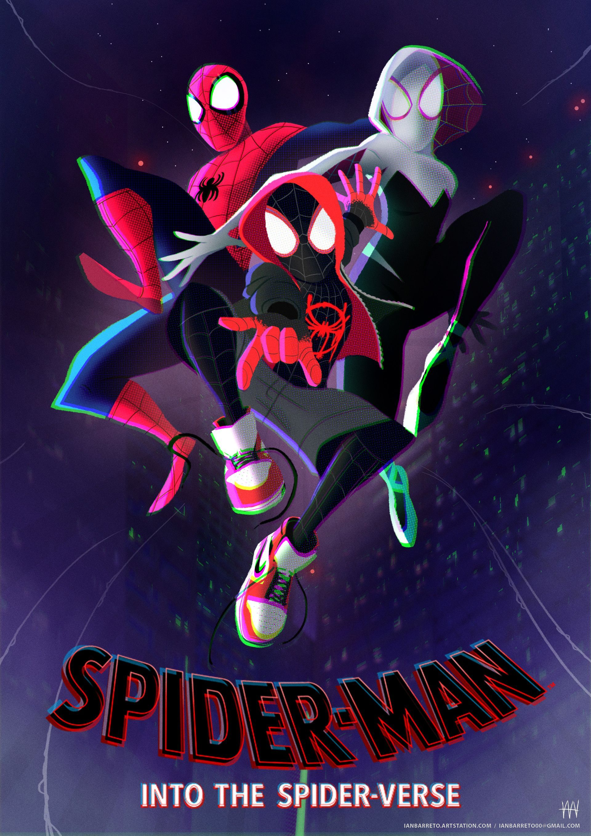 Artstation Into The Spider Verse Ian Barreto Spiderman Spider Verse Marvel Spiderman