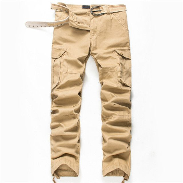 20f705ea735b96 2017 New Arrival High Quality Spring Style Top Fashion Clothing Solid Mens  Cargo Pants Cotton Men Trousers Joggers Plus Size