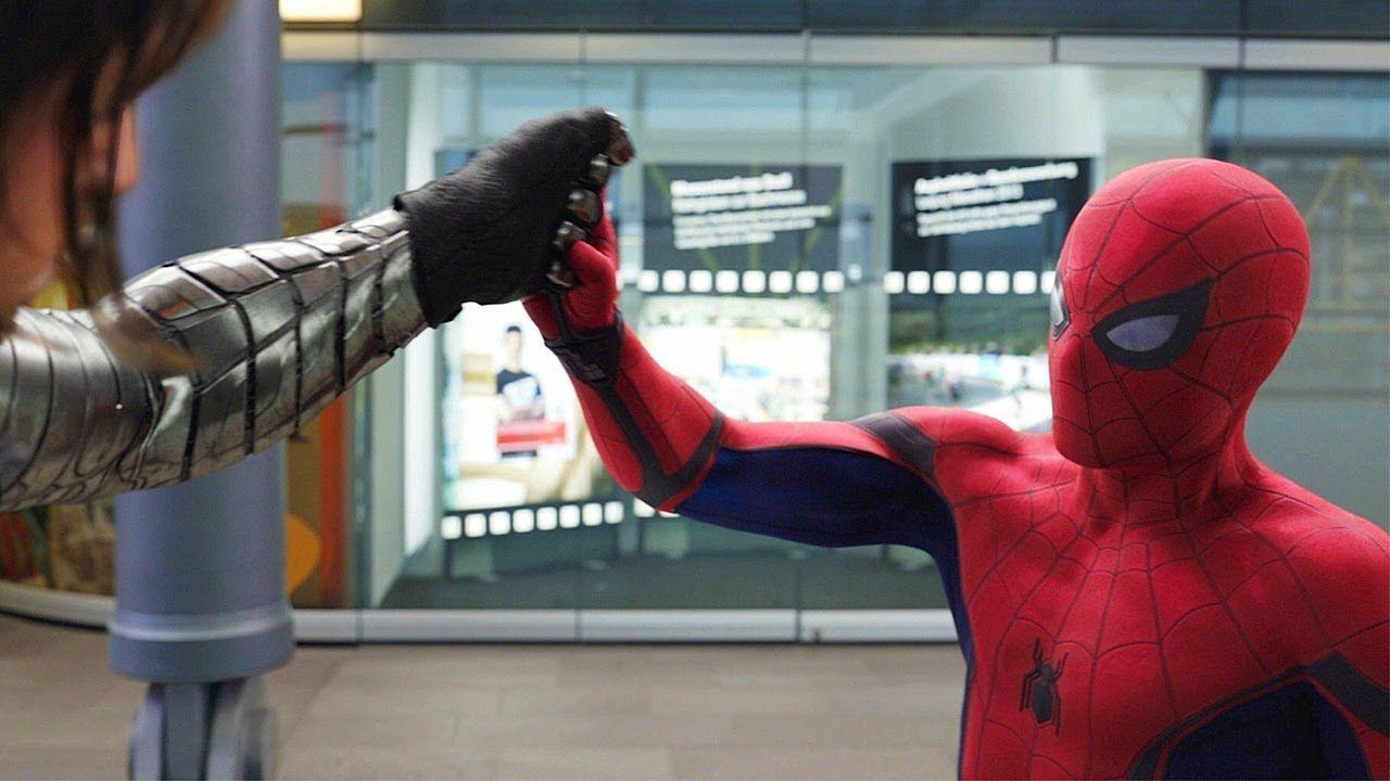 You have a metal arm airport battle scene captain
