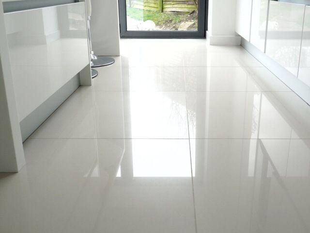 Brilliant White High Gloss Pre Sealed Porcelain Wall Floor