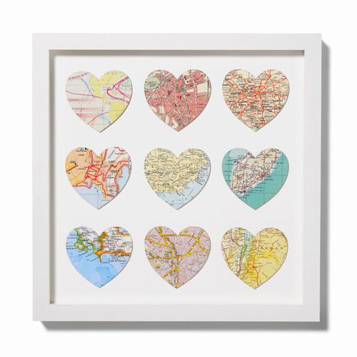 Hearts do it yourself pinterest hearts cut from road maps i like it or hearts cut from maps of the places youve visited solutioingenieria Image collections