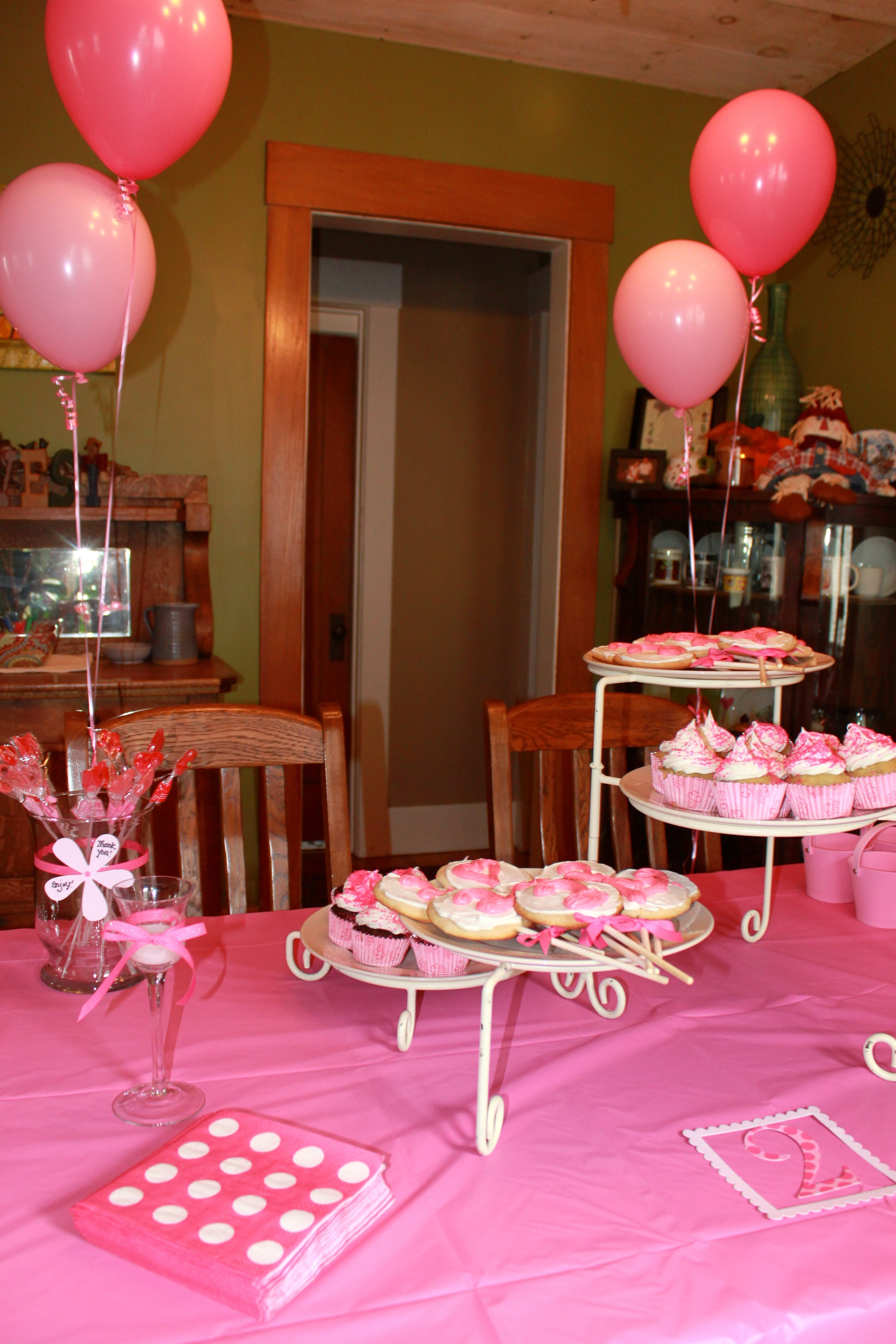 My 2 Year Old Daughters Pink Birthday Partyshe Just Loved It