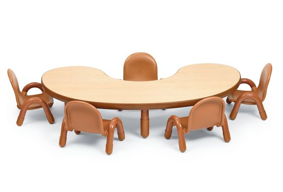 1fb71a7e5839 Angeles® BaseLine® Kidney-Shaped Toddler Table   Chair Set
