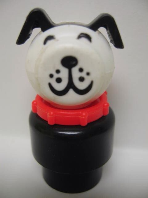 Fisher Price Dalmatian Vintage Pull Toy Dog Barking Old Mcdonald