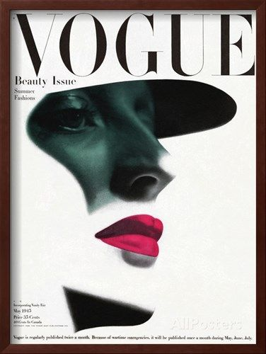 Vogue Cover - May 1945 - In the Shade Regular Giclee Print by Erwin Blumenfeld - at AllPosters.com.au