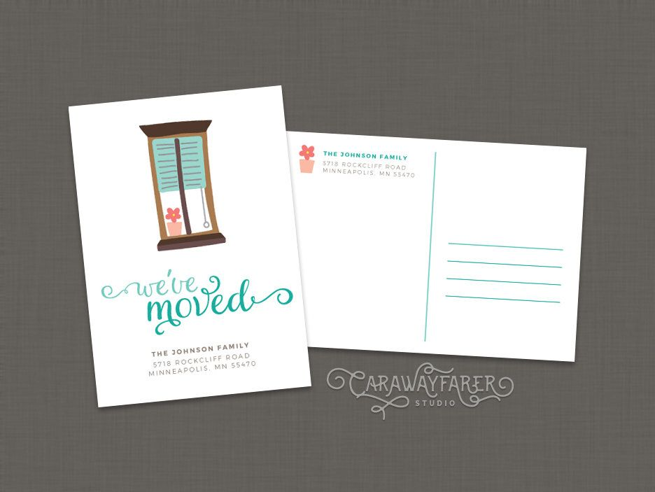 address change announcement cards