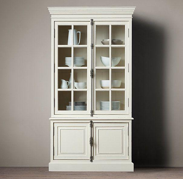 French Casement Double Door Sideboard Hutch