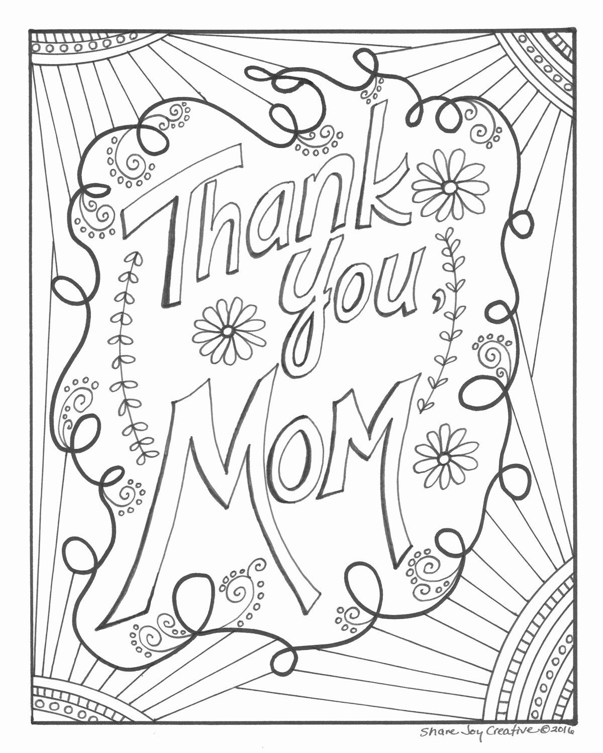 Coloring Thank You Cards in 2020 | Mothers day coloring ...