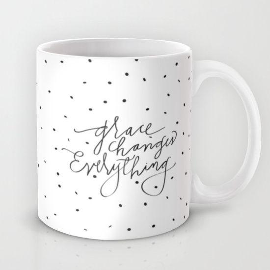 Grace Changes Everything Mug pillow option