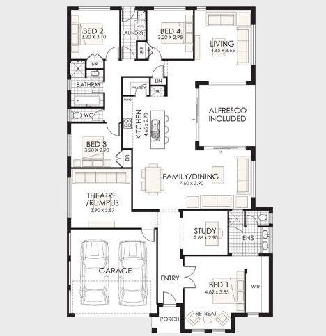 Planos de casas de un piso incluye las fachadas de for Planos para casas de un piso