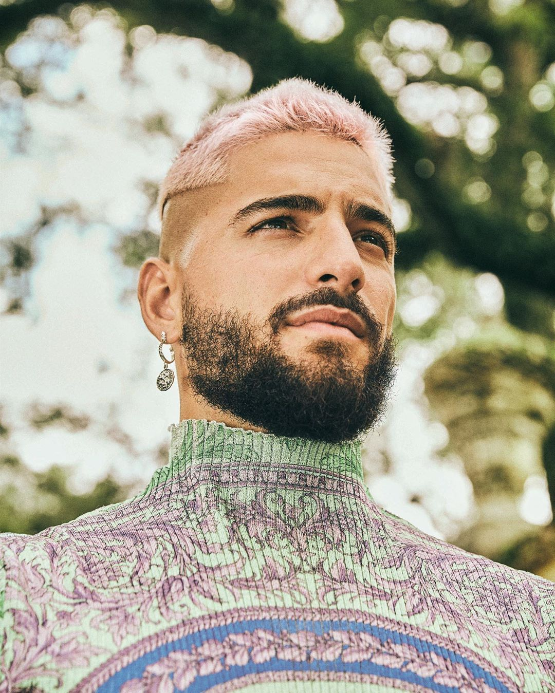 British Gq Style On Instagram Maluma Wears Ss20 Versace And Emanuelebicocchi In A Special Preview In Our In 2020 Cool Hair Color Cool Hairstyles Vivid Hair Color