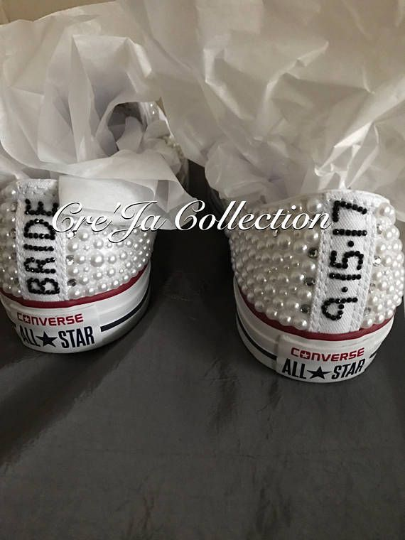 24f99f9aa40 Wedding Converse are a gorgeous alternative to heels for your special day.  Some brides even like to wear these for the week on the go before their  wedding.