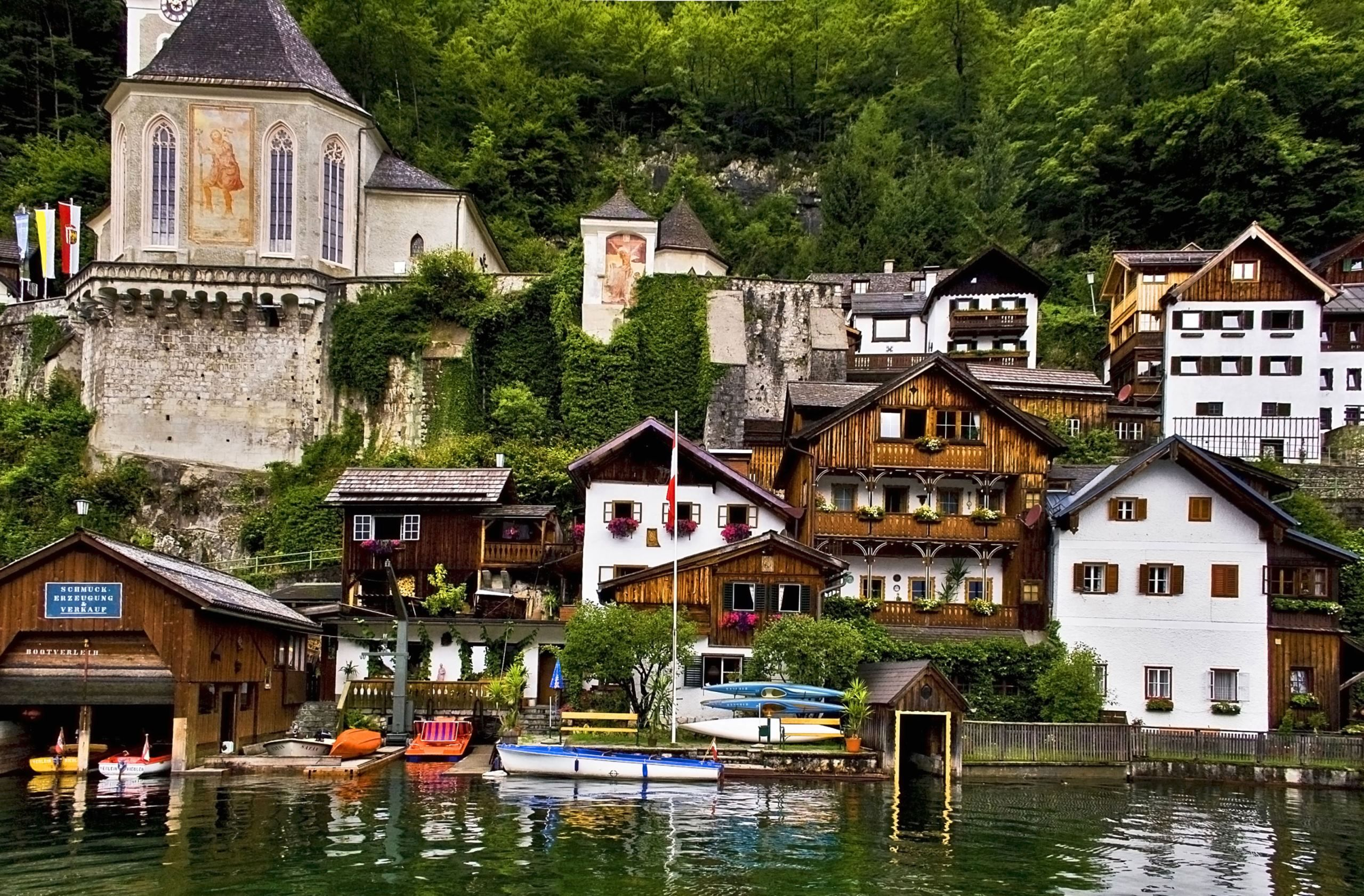 This Quaint Austrian Town Gives Us Serious Wanderlust   Hallstatt, Thailand  floating market, The places youll go