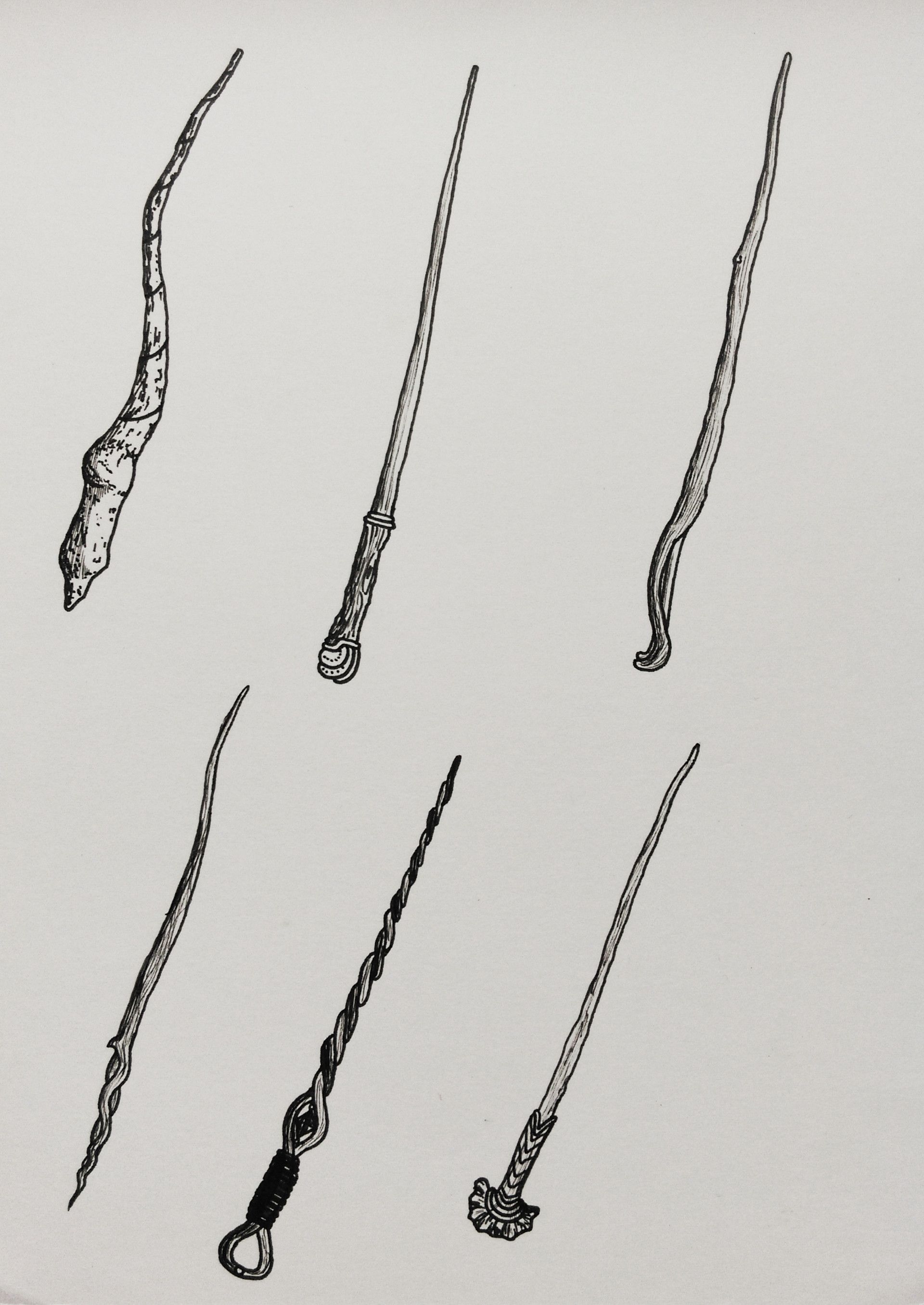 Wizard Staff Character Drawing Walking Sticks Ideas Wands Weapons Harry Potter Doodles For Guns