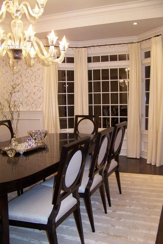 Dining Room Addition Home Design Ideas Pictures Remodel And Decor: Dining Room With Bay Windows Design, Pictures, Remodel, Decor And Ideas With Plantation Shutters