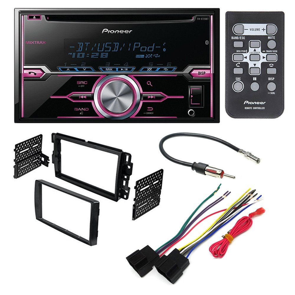 hight resolution of pioneer fh x720bt aftermarket car stereo dash installation kit w wiring harness antenna select buick chevrolet gmc hummer pontiac saturn suzuki
