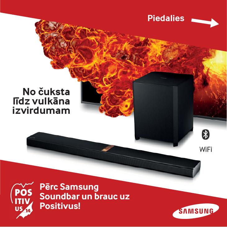 Ar Samsung Soundbar uz Positivus 2014!