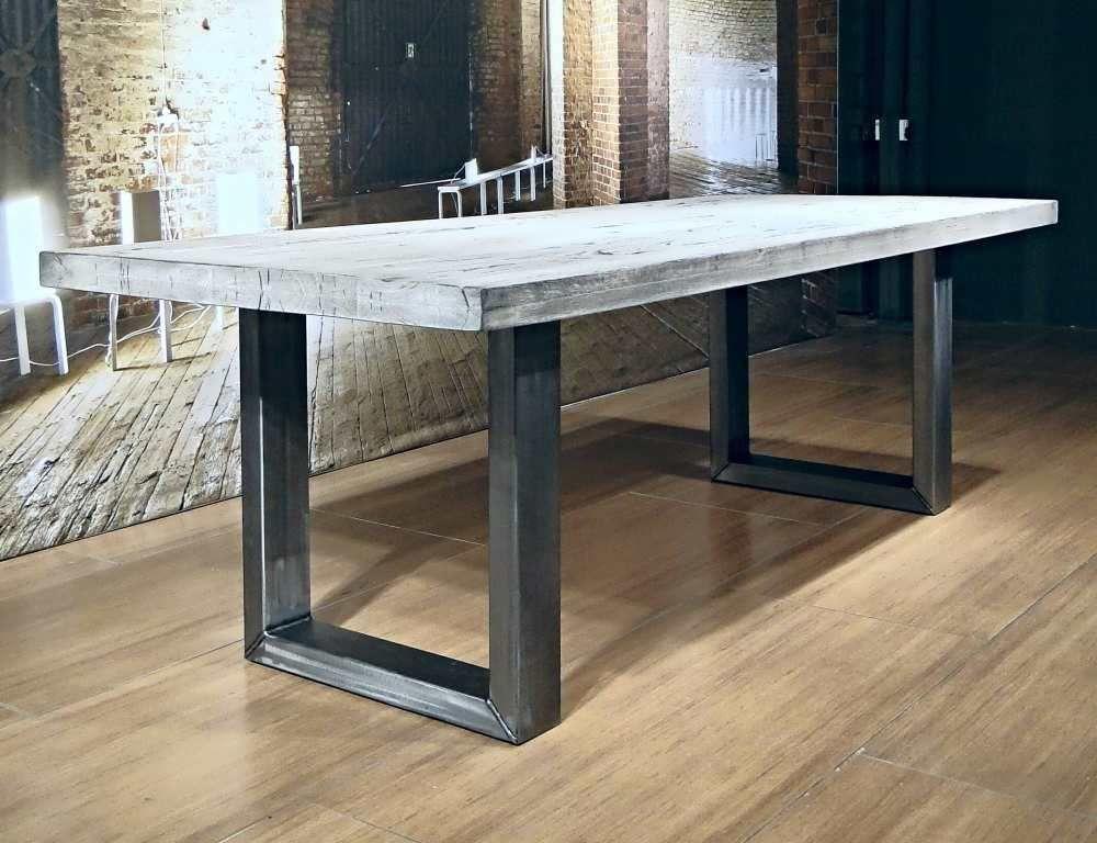 Industriele tafel montreuil robuuste tafels unieke robuuste kloostertafels direct uit - Tafel eetkamer industriele ...