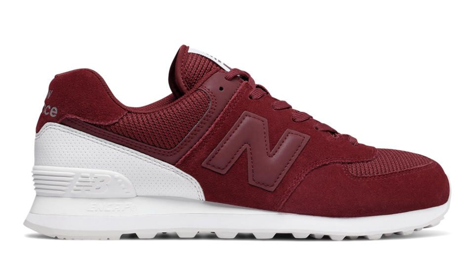 574 New Balance, Mercury Red with White