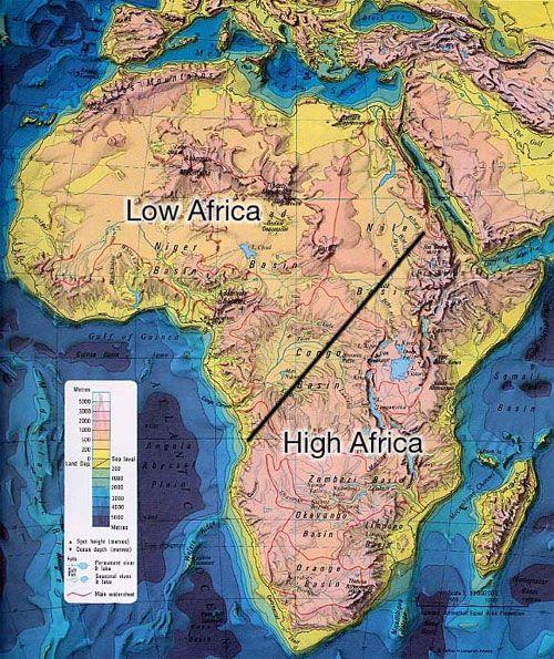 Topographic Map Africa Geo Sahara Deserts Pinterest