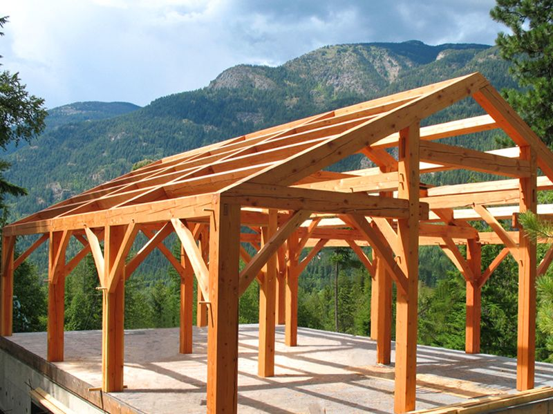 The Framing Completed Mountain Home Restoration Open