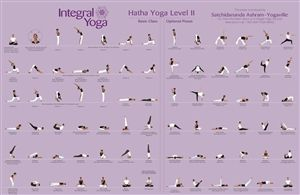 integral yoga hatha poster displaying the asana poses